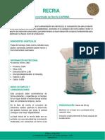 Ficha Tecnica Recria - Ppnor Chile Spa