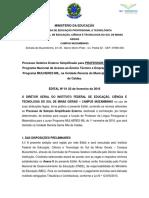 Edital Pronatec