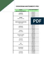 Invent a Rio Cronograma y Repuestos Para Mantenimiento-preventivo Johana Cano Hernandez 38110