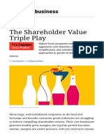 The Shareholder Value Triple Play