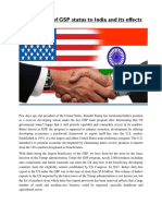 InsideTrade_Shubham_Patle_Termination of GSP Status to India and Its Effects