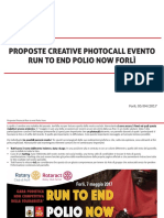 Presentazione Progetto Photocall - Run to End Polio