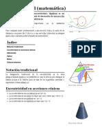 Excentricidad (matemática)