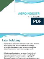 AGROINDUSTRI1, kuliah pilihan