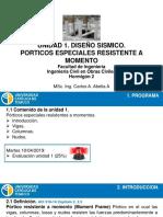 Unidad 1-Diseño Sismico. Porticos Especiales Resistentes a Momentos (1)