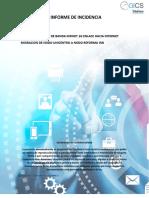 Informe de Certificacion servicio INFOINTERNET  10M TELXIUS EMERGIA ZONA PRADERA Julio 2018