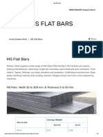 MS Flat Bars Weight