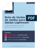 Guia de Atalhos Lightroom