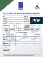 Application Form ( CAE - Indigo Cadet Pilot Programme)