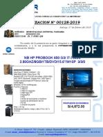 COTIZACION N° 00128-2019 LAPTOP - TAHUANIA listo