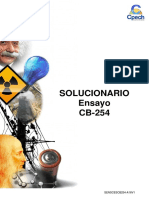 Solucionario Ensayo CB-254 2016
