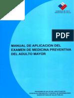 Manual de aplicación del examen de medicina preventiva del adulto mayor