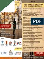 Programa I Jornada Museologia Y Gestión del Patrimonio Cultural. Arequipa 2019