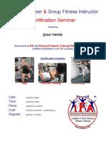 Flyer Certification Seminar Personal Trainer