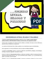 Discriminar Letras, Sílabas y Palabras