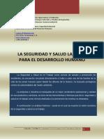La Seguridad y Salud Laboral Para El Desarrollo Humano
