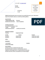 How to write professional resume