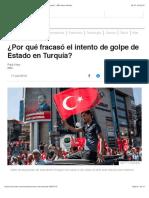¿Por qué fracasó el intento de golpe de Estado en Turquía? - BBC News Mundo