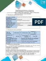 0-Guía de Actividades y Rúbrica de Evaluación - Fase 4. Propuesta Para Un Estilo de Vida Saludable