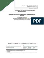 Investigación Cualitativa Método Fenomenológico Hermeneutico