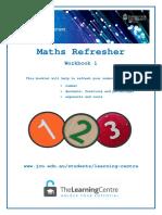 Maths Refresher Workbook Class 1