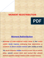 MOMENT REDISTRIBUTION