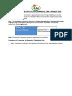 MEESEVA User Manual for DEPT Ver 1.1-Possession Certificate