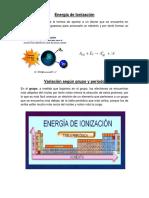 Energía de Ionización