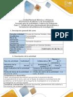 Guía de Actividades y Rúbrica de Evaluación - Paso 2 – Estado Del Arte, Planteamiento Del Problema y Formulación Del Problema de Investigación
