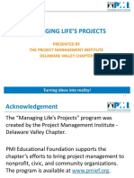 Managing Life's Projects