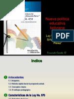 Ley 070 Avelino Siñani Elizardo Perez Presentación
