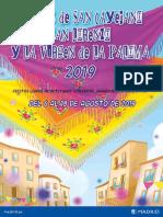 Programa Fiestas de agosto 2019 Madrid