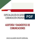 Hincapié 1. Auditoría y Diagnóstico de Comunicación