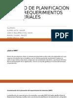 Proceso de Planificacion de Los Requerimientos de Materiales