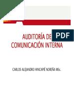 Hincapié 2. Auditoría de Comunicación Interna