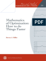 Miller S J - Mathematics of Optimization Pure and Applied Undergraduate Texts - 2017