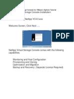 NetApp Virtual Storage Console for VMware VSphere Tutorial