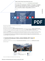 Medidas y Tamaño de Portada de Facebook, Twitter, Instargram y Más