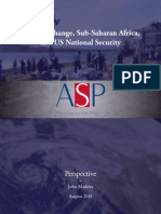 Climate Change, Sub-Saharan Africa, and US National Security