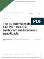 Top 10 extensões do GNOME Shell que melhoram sua interface e usabilidade.pdf