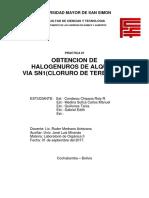 Obtención de Halogenuros de Alquilo