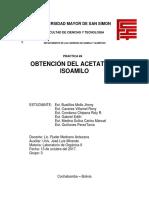 Obtención Del Acetato de Isoamilo