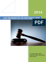 Los Incidentes en Materia Civil