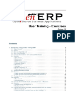 Openerp User Training v7 Exercises 3.0 Update