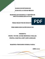 TEMAS SELECTOS DIDACTICA