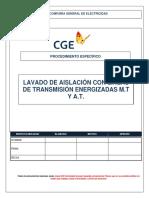 PE-LIN-001 - Lavado de Aislación de Linea de Transmisión de A.T y M.T 1