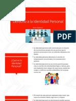 Derecho a La Identidad Personal