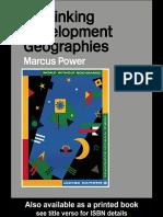 Epdf.pub Rethinking Development Geographies