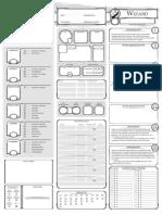 Class Character Sheet Wizard V12 Fillable
