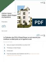 Les ESH et le secteur HLM en France